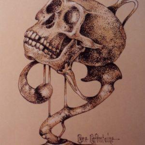 Le trophée (crâne de primate) – 2005